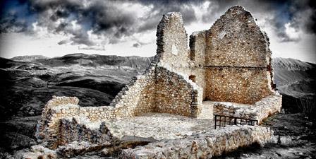 Ruins of Rocca Calascio, Italy