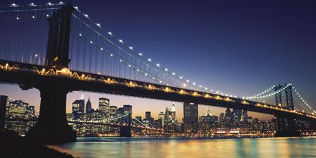 Bridge across the river, Manhattan Bridge, Lower Manhatta...