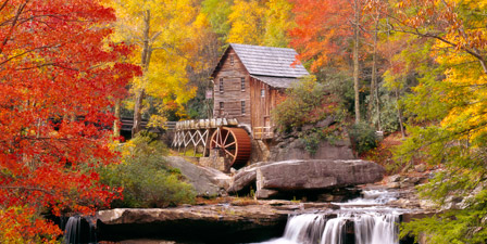 West Virginia, Glade Creek Grist Mill Babcock, St Park, H...