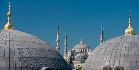 Looking Across The Domed Roofs Of The Haghia Sophia to th...