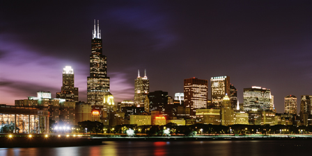 Buildings at the waterfront Sears Tower, Lake Michigan, C...