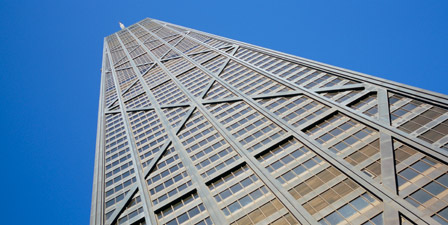 Low angle view of a building, John Hancock Building, Chic...