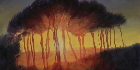 Wild Trees at Sunset, 2002 (oil on canvas)