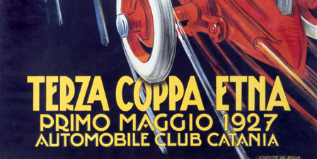 Terza Coppa Etna, Auto Road Rally, Vintage Poster, by Fra...