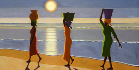 By the Beach, 2007 (oil on canvas)