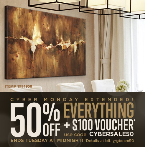 50% off and $100 voucher. Shop abstract wall art.