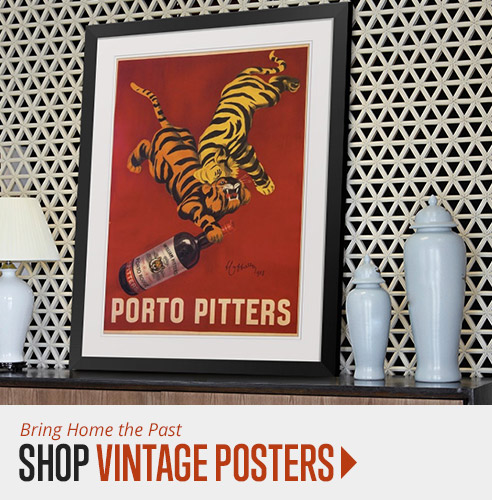 shop vintage poster wall art