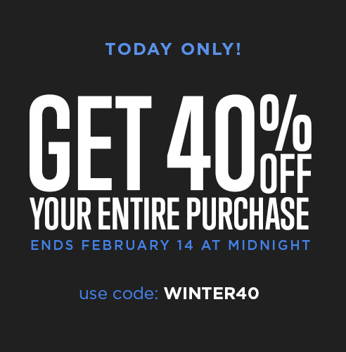Save 40% Now