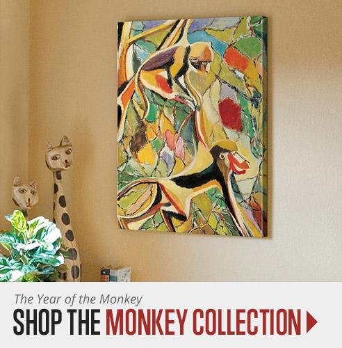 Chinese New Year Monkey Wall Art