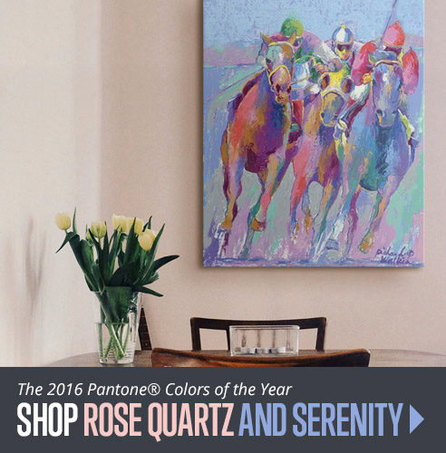 Shop Rose Quartz and Serenity Pantone Colors of the Year Wall Art