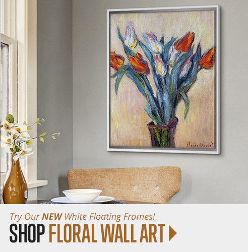 Shop Floral Wall Art and Try Our New White Floating Frames