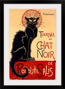 Tournee du Chat Noir, Vintage Poster, by Theophile Alexandre Steinlen
