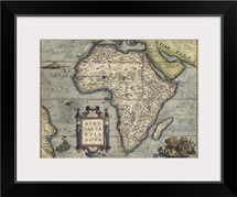 Antique Map of Africa, 1570
