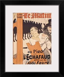 Advertisement for a memoire by l'abbe Faure in Le Matin