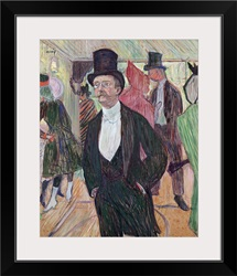 Monsieur Fourcade, 1889 (gouache & pastel on cardboard)