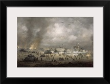 'The Tanks Go In', Sword Beach (oil on canvas)