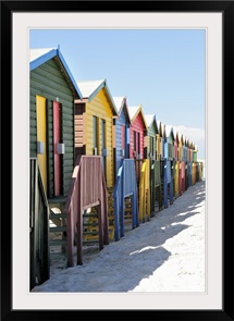 Beach Huts on Muizenburg Beach Cape Town