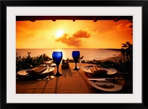 Set table, Long Bay, St. Martin