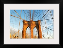 USA, New York State, New York City, Span of Brooklyn Bridge