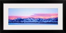 Montana, Bozeman, Bridger Mountains, sunset