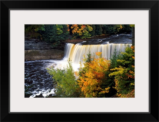 Tahquamenon Falls, autumn color forest, Michigan