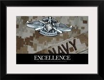 US Navy Poster : The Fleet Marine Force Warfare Specialist Pin