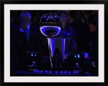 Larry O'Brien Championship Trophy at the Staples Center