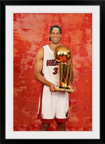 Shane Battier with the 2012 NBA Championship Trophy