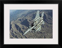 A US Air Force F15E Strike Eagle on a combat patrol over Afghanistan