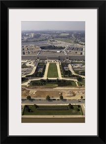 Aerial photograph of the Pentagon with the River Parade Field in Arlington Virginia