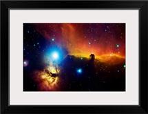 Alnitak region in Orion Flame nebula NGC 2024 horsehead nebula IC434
