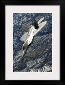 An F22 Raptor in flight