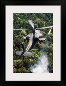 Apache Helicopter Firing