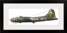 Illustration of a Boeing B-17F Knockout Dropper aircraft