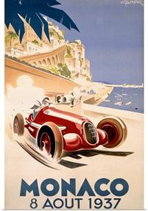 Grand Prix, Monaco, 1937, Vintage Poster, by Geo Ham