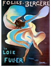 La Loie Fuller, Folies Bergere, Vintage Poster, by Jean de Paleologue