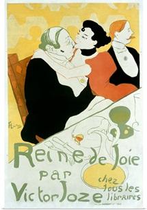 Reine De Joie, Vintage Poster, by Henri de Toulouse Lautrec