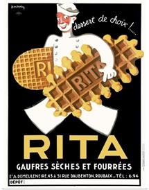 Rita, Belguim Waffle Biscuit, Vintage Poster