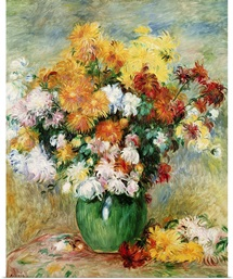 Bouquet of Chrysanthemums, c.1884 (oil on canvas)
