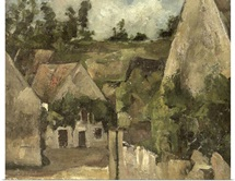 Crossroads at the Rue Remy, Auvers, c.1872 (oil on canvas)