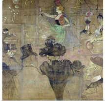 Dancing at the Moulin Rouge: La Goulue, 1895 (oil on canvas)