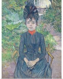 Justine Dieuhl, c.1891 (oil on card)