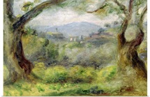 Landscape at Les Collettes, 1910 (oil on canvas)