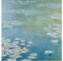 Nympheas at Giverny, 1908 (oil on canvas)