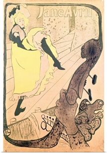 Poster advertising Jane Avril (1868 1943) at the Jardin de Paris, 1893 (colour litho)