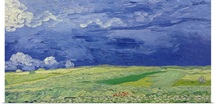 Wheatfields under Thunderclouds, 1890 (oil on canvas)