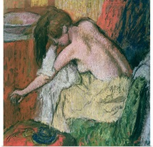 Woman drying herself, 1888-89 (pastel on paper)