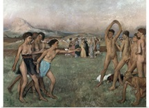 Young Spartans Exercising, c.1860 (oil on canvas)