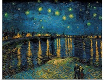 Starry Night, by Vincent Van Gogh, 1888. Musee d'Orsay, Paris, France