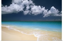 Beautiful blue water beach scene
